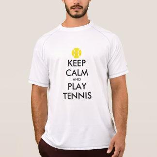 Gardez le T-shirt de tennis de calme et de jeu