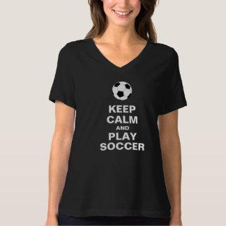 Gardez le T-shirt du football de calme et de jeu
