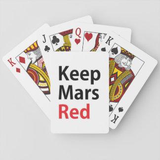 Gardez les cartes de jeu rouges de Mars Cartes À Jouer