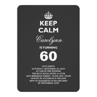 Gardez l'invitation drôle calme de fête carton d'invitation  11,43 cm x 15,87 cm