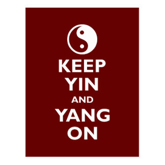 Gardez Yin et Yang dessus Carte Postale