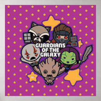 Gardiens de Kawaii du graphique d'étoile de Poster