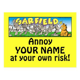 Garfield Logobox m'ennuient des cartes postales