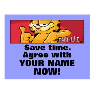 Garfield Logobox sont d accord avec moi des cartes