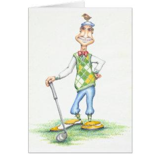 Gary la carte de voeux de golfeur