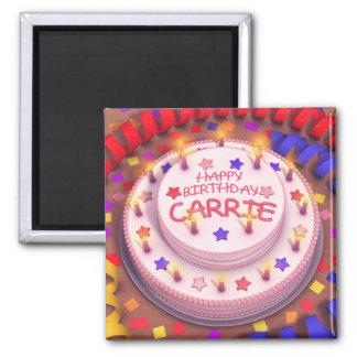 Gâteau d'anniversaire de Carrie Aimants Pour Réfrigérateur