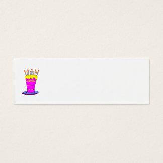 Gâteau d'anniversaire rose géant mini carte de visite