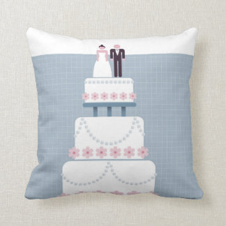 Gâteau de mariage coussins carrés