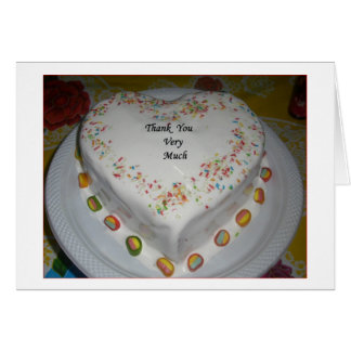 Gâteau de Merci Carte De Vœux