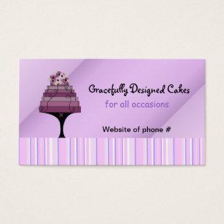 Gâteau pourpre de concepteur cartes de visite