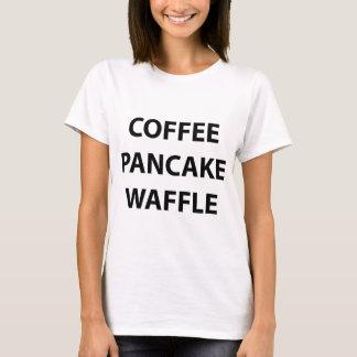 Gaufre de crêpe de café. T-shirt