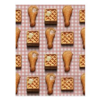 gaufres de poulet de guingan carte postale