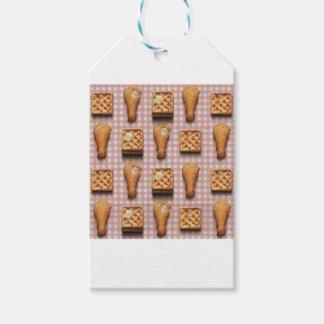 gaufres de poulet de guingan étiquettes-cadeau