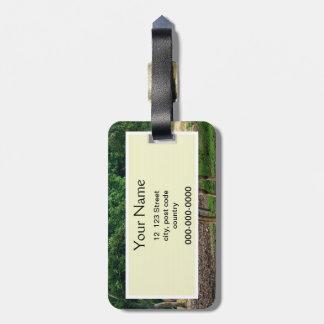 Gazelle, zoo d'animal sauvage, 羚. étiquette à bagage