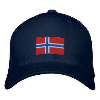 Geborduurd flexfit de wolpet van Noorwegen vlag Geborduurde Pet