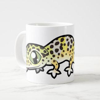Gecko de léopard de bande dessinée mug