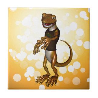 Gecko mignon carreaux