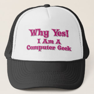 Geek d'ordinateur casquette