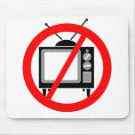 GEEN TV - televisie/propaganda/hersenspoeling/medi Muismat