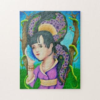 Geisha du puzzle de forêt