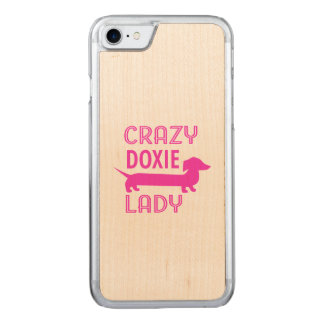 Gekke Doxie Dame Funny Dachshund Mama Carved iPhone 8/7 Hoesje