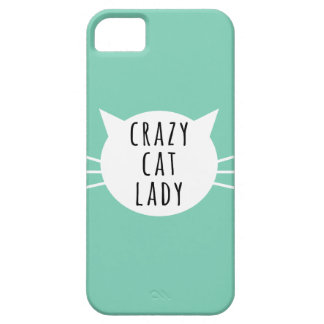 Gekke Kat Dame Funny Case Barely There iPhone 5 Hoesje