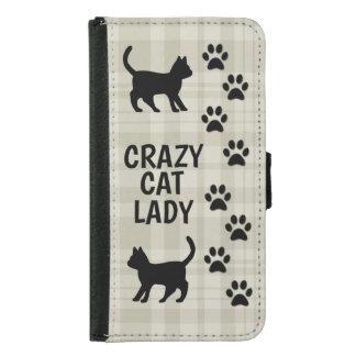 Gekke Kat Dame Wallet Style Phone Case