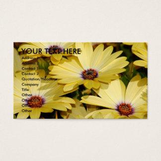 Gele Bloemen Visitekaartjes