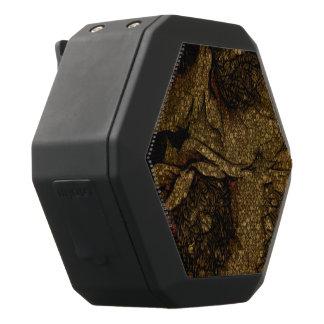 Gele Bruine Bloemen Zwarte Bluetooth Speaker