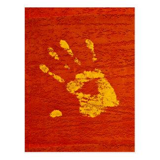 Gele Hand Briefkaart