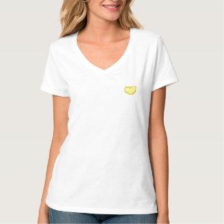 Gele hart aangepaste eerste bruidsmeisjet-shirt t shirt