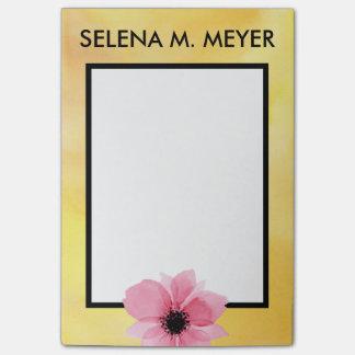 Gele het Roze van de Bloem van de Waterverf van de Post-it® Notes