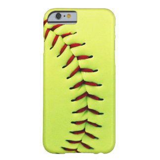 Gele softballbal barely there iPhone 6 hoesje