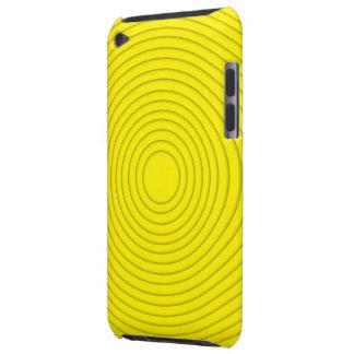 gele spiraalvormige illusie ipod aanraking iPod touch hoesje