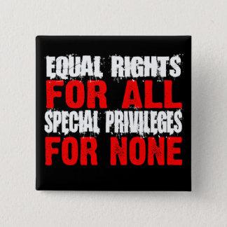 Gelijke Rechten voor Al Knoop Vierkante Button 5,1 Cm