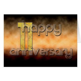 Gelukkig 11de Jubileum (huwelijksverjaardag) Wenskaart