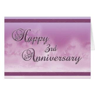 Gelukkig 3de Jubileum (huwelijksverjaardag) Kaart