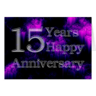 Gelukkig Jubileum 15 Jaar (huwelijksverjaardag) Wenskaart