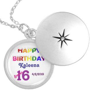 Gelukkig Snoepje 16 van de Verjaardag Ketting Rond Medaillon