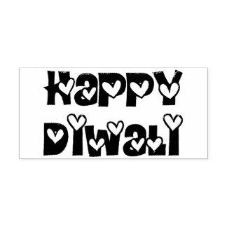 Gelukkige Diwali die de Leuke Zegel van de Zelfinktende Stempel