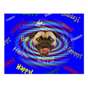 Pug Verjaardag Briefkaarten Zazzle Be