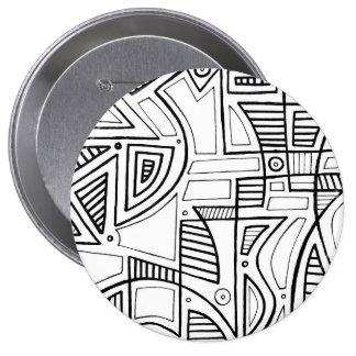Gelukkige het Verbazen Moderne Verrukkelijk Ronde Button 4,0 Cm