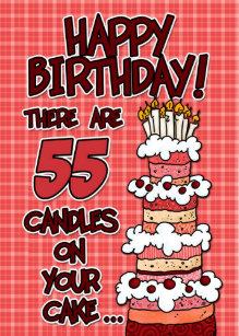 Wonderbaarlijk Gelukkige 55 Verjaardagskaarten | Zazzle.be NE-72