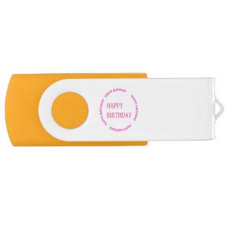 Gelukkige VERJAARDAG 8-64 USB 3.0 de Aandrijving Swivel USB 3.0 Stick