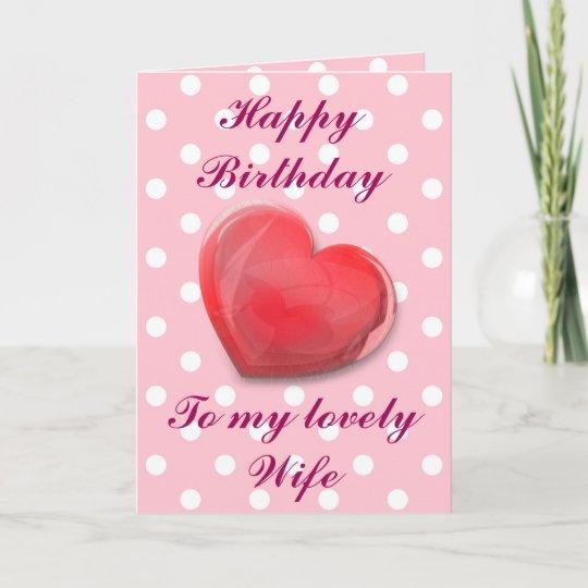 Gelukkige Verjaardag Aan Mijn Mooie Vrouw Kaart Zazzle Be