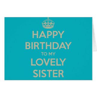Gelukkige Verjaardag aan mijn Mooie Zuster Kaart