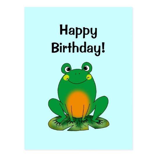 Gelukkige Verjaardag Kikker Briefkaart Zazzle Be