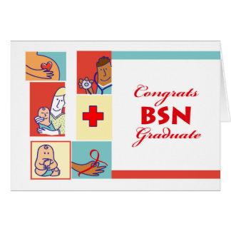 Gelukwensen op Afstuderen, BSN Graad, Verzorging Kaart