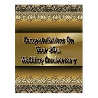 Gelukwensen op Uw 50ste Jubileum van het Huwelijk Briefkaart