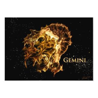 Gémeau-jumeaux-s Carton D'invitation 12,7 Cm X 17,78 Cm